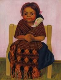 Niña con muñeca de trapo